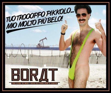 Pubblicità di Borat nel bagno degli uomini